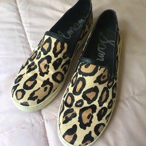 Sam Edelman Leopard Slip On Sneakers